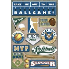 Cardstock Stickers Softball MVP
