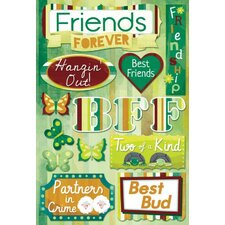 Cardstock Stickers Friends Forever