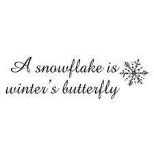 Mounted Rubber Snowflake Is Winter's Butterfly Stamp