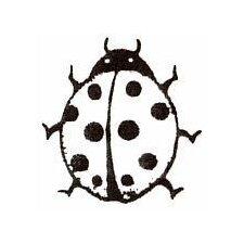 Mounted Rubber Ladybug Stamp
