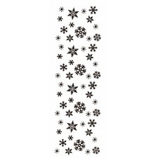 Mounted Rubber Snowflake Border Stamp
