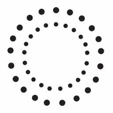 Mounted Rubber Double Dot Circles Stamp