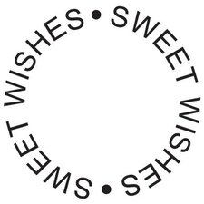 Mounted Rubber Sweet Wishes Circle Stamp