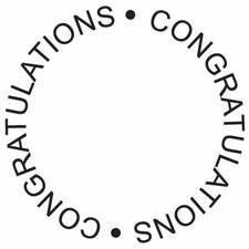 Mounted Rubber Congratulations Circle Stamp