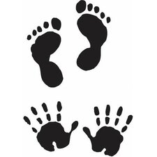 Mounted Rubber Baby Hands & Feet Stamp