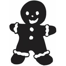 Mounted Rubber Gingerbread Man Stamp