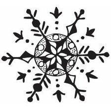 <strong>Sarasota Stamps</strong> Mounted Rubber Snowflake Stamp