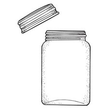 Mounted Rubber Jar & Lid Stamp