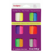 Polymer Multi-Pack Clay (Set of 12) (Set of 12)