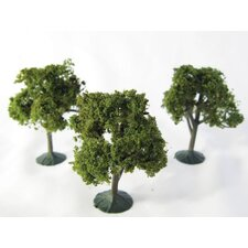 Architectural Model Deciduous Tree (Set of 3)