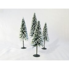 Architectural Model Snow Spruce Tree (Set of 4)