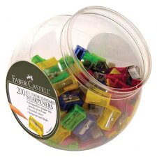 Ice Color Standard Pencil Sharpeners with Display (Set of 200)
