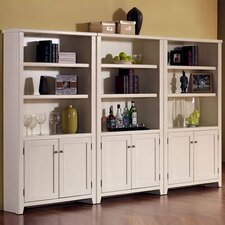 "Tribeca Loft 70"" H White Lower Door Bookcase"