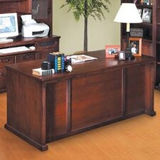 <strong>kathy ireland Home by Martin Furniture</strong> Huntington Oxford Executive 7-Drawer Desk
