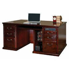 <strong>kathy ireland Home by Martin Furniture</strong> 68.25 Double Pedestal Computer Desk