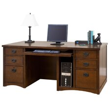 <strong>kathy ireland Home by Martin Furniture</strong> Wood Pedestal Computer Desk