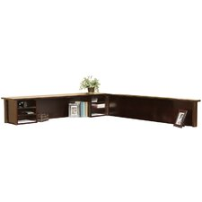 "Tribeca Loft Cherry 14"" H x 68.25"" W Reception Hutch and Return"