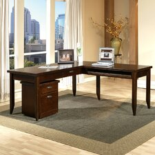 Tribeca Loft L-Shaped Writing Desk Office Suite