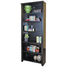 "Tribeca Loft Black Office Collection 84"" Bookcase in Distressed Painted Black"