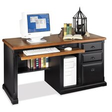 <strong>kathy ireland Home by Martin Furniture</strong> Single Pedestal Computer Desk