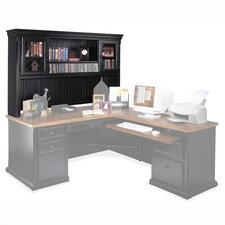 <strong>kathy ireland Home by Martin Furniture</strong> Southampton Onyx Deluxe Hutch Top for L-Shape Desk