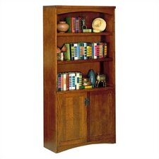 "California Bungalow 70"" H Bookcase with Lower Doors"
