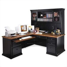 <strong>kathy ireland Home by Martin Furniture</strong> Southampton Onyx L-Shape Executive Office Suite