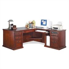 <strong>kathy ireland Home by Martin Furniture</strong> Huntington Club Right L-Shape Executive Desk