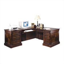 Mt. View Office Executive L-Shaped Computer Desk and Return Set (Left)