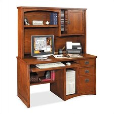 <strong>kathy ireland Home by Martin Furniture</strong> Mission Pasadena Deluxe Computer Desk and Optional Organizer Hutch
