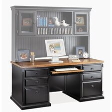 <strong>kathy ireland Home by Martin Furniture</strong> Southampton Onyx Computer Kneehole Credenza