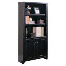 "Tribeca Loft 70"" H Black Lower Door Bookcase"