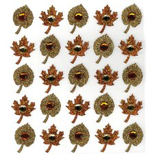 Repeats Fall Leaf Stickers