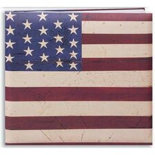 Printed Cover Warren Kimble Flag Scrapbook