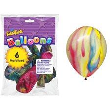 "12"" Marbleized Funsational Balloon (Set of 6)"