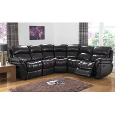 Madras Leather 5 Seater Reclining Sofa