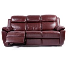Kansas Bonded Leather 3 Seater Reclining Sofa