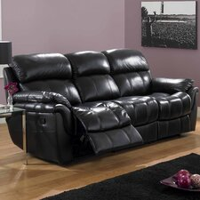 Madras Leather 3 Seater Reclining Sofa