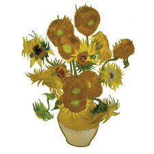 Special Edition Flat Flowers Window Stickers in Sunflowers