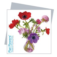 Flat Flowers Window Stickers Originals in Anemone Pink