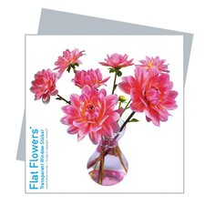 Flat Flowers Greetings in Dahlia (Set of 6)