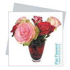 Flat Flowers Greetings in Roses (Set of 3)
