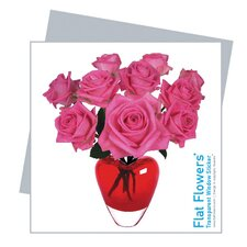 Flat Flowers Greetings in Roses Heart