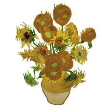Flat Flowers Greetings Van Gogh in Sunflowers (Set of 6)