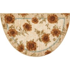 Delicate Sunflower Kitchen Rug