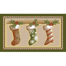 Holiday Stockings Novelty Rug