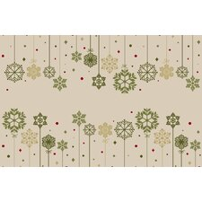 Snowflake Ornaments Novelty Rug