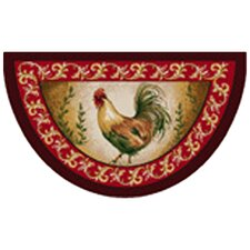 Prancing Rooster Kitchen Rug