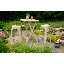 <strong>Adams Manufacturing Corporation</strong> Quik-Fold 3 Piece Bistro Set