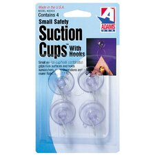 Wall Mounted Suction Cup with Metal U Hook (Set of 5)